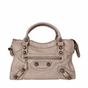 Balenciaga Agneau Small City Bag Rose Poudre
